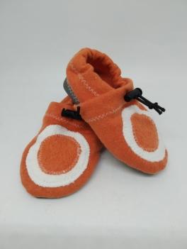 chaussons-bio-orange-beige-1 les belles création danna