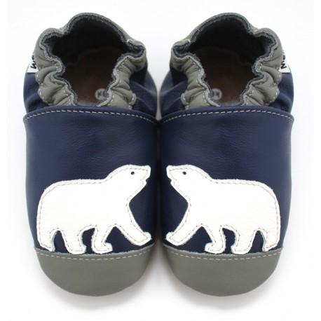 chaussons-cuir-souple-ours-polaire-meli-melo-bio