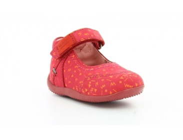 kickers bamako-fuchsia-impr-orange