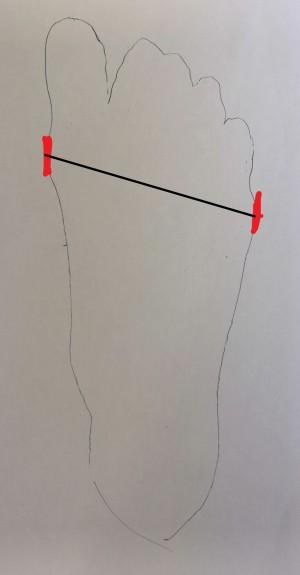 contour du pied mesure largeur